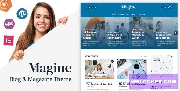 Download free Magine v1.1 – Business Blog WordPress Theme