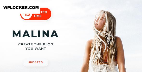 Download free Malina v2.1.1 – Personal WordPress Blog Theme