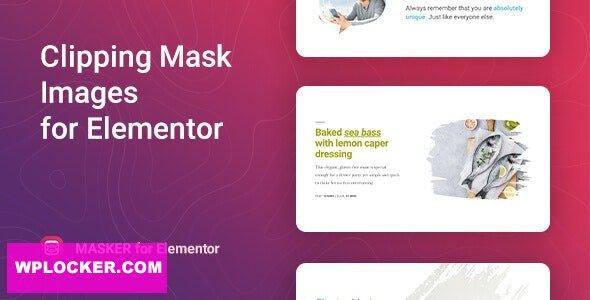 Download free Masker v1.0.1 – Clipping Mask for Elementor