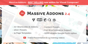 Download free Massive Addons for WPBakery Page Builder v2.4.7