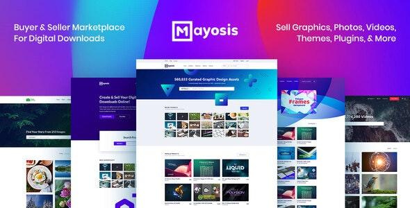Download free Mayosis v2.8.2 – Digital Marketplace WordPress Theme