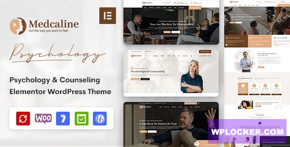Download free Medcaline v1.0.0 – Psychology & Counseling WordPress Theme