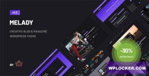 Download free Melady v1.0 – Creative Blog & Magazine WordPress Theme
