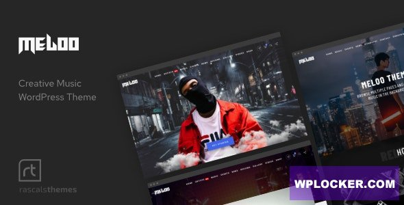 Download free Meloo v2.6.0 – Music Producers, DJ & Events Theme for WordPress