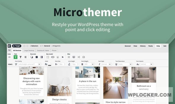 Download free MicroThemer v6.2.1.5 – WordPress CSS Editor