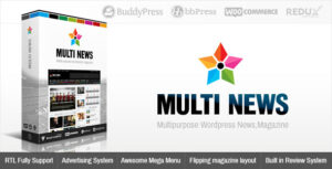 Download free Multinews v2.6.10 – Multi-purpose WordPress News, Magazine