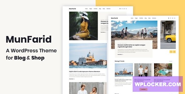 Download free Munfarid v1.0.4 – A WordPress Theme For Blog & Shop