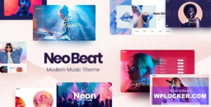 Download free NeoBeat v1.0 – Music WordPress Theme