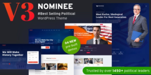 Download free Nominee v3.3.0 – Political WordPress Theme for Candidate/Political Leader