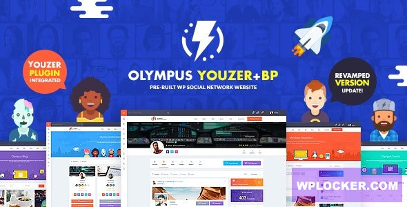 Download free Olympus v3.2.5 – Powerful BuddyPress Theme for Social Networking
