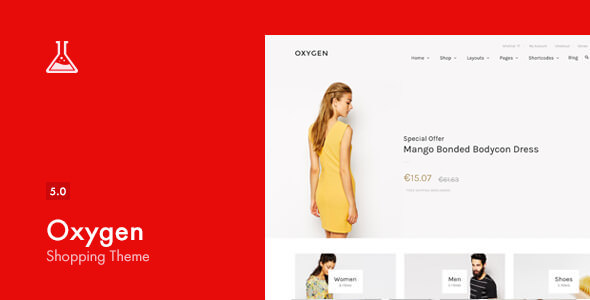 Download free Oxygen v5.5.1 – WooCommerce WordPress Theme