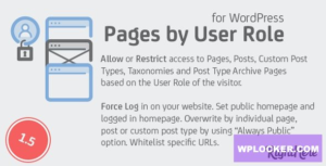Download free Pages by User Role for WordPress v1.5.0.97742