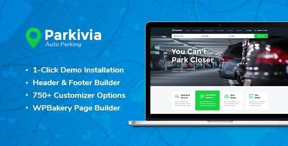 Download free Parkivia v1.1.2 – Auto Parking & Car Maintenance WordPress Theme