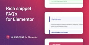 Download free Questionar v1.0.1 – FAQ Accordions for Elementor