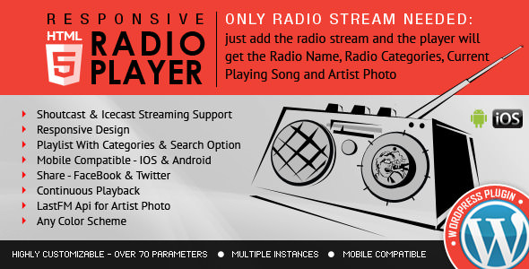 Download free Radio Player Shoutcast & Icecast v3.3.4