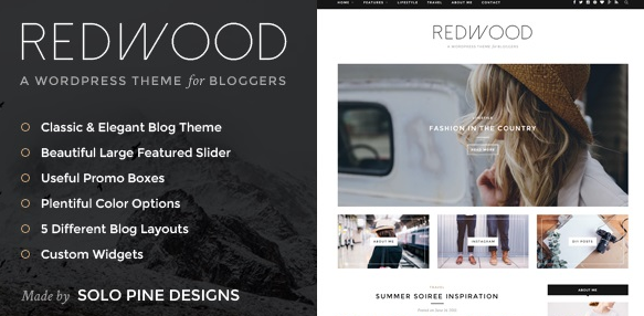 Download free Redwood v1.7.2 – A Responsive WordPress Blog Theme