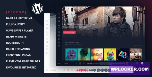 Download free Rekord v1.4.1 – Ajaxify Music – Events – Podcasts Multipurpose WordPress Theme
