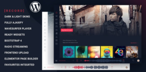 Download free Rekord v1.4.2 – Ajaxify Music – Events – Podcasts Multipurpose WordPress Theme