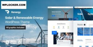 Download free Renergy v1.0.9 – Solar and Renewable Energy WordPress Theme