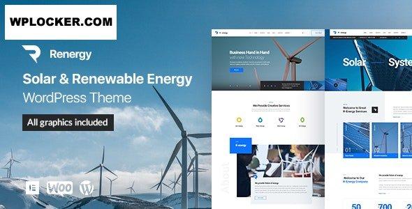 Download free Renergy v1.0.9 – Solar and Renewable Energy WordPress Theme