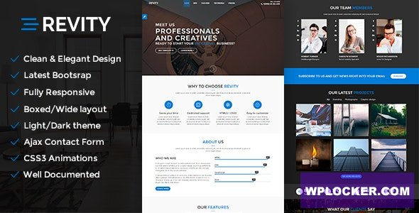 Download free Revity v1.2.4 – One page WordPress Theme