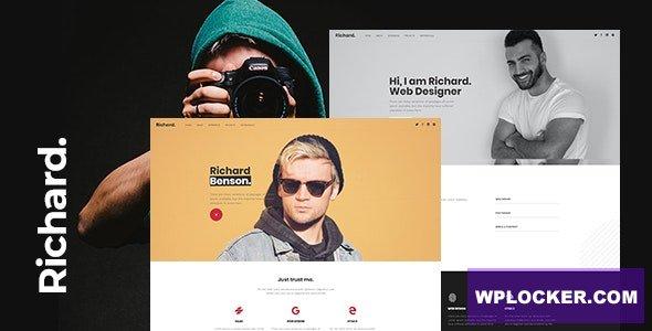 Download free Richard v1.0 – Onepage Personal WordPress Theme