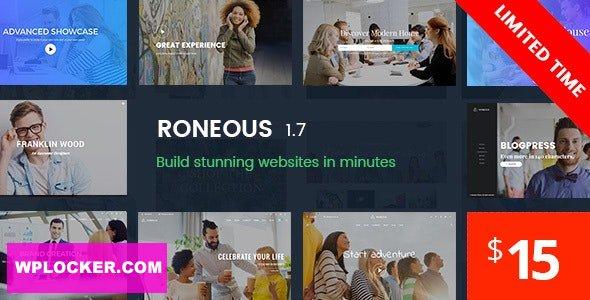 Download free Roneous v1.8 – Creative Multi-Purpose WordPress Theme