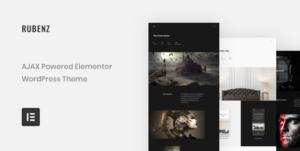 Download free Rubenz v2.0.2 – Creative Portfolio AJAX WordPress Theme