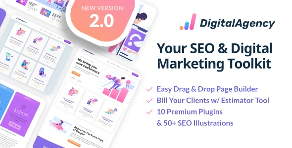 Download free SEO WP v2.2 – Online Marketing, SEO, Social Media Agency