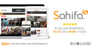 Download free Sahifa v5.7.2 – Responsive WordPress News, Magazine