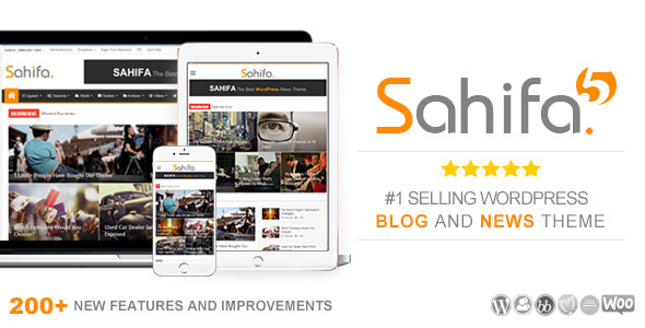 Download free Sahifa v5.7.2 – Responsive WordPress News, Magazine
