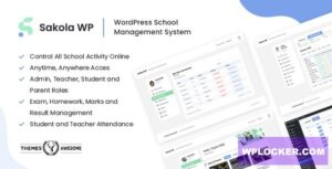 Download free SakolaWP v1.0.0 – WordPress School Management System