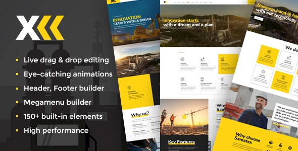 Download free Samatex v2.2 – Industrial WordPress Theme + Woocommerce