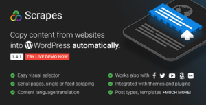 Download free Scrapes v2.1 – Web scraper plugin for WordPress