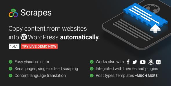 Download free Scrapes v2.1 – Web scraper plugin for WordPress