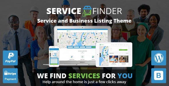 Download free Service Finder v3.5 – Provider and Business Listing Theme