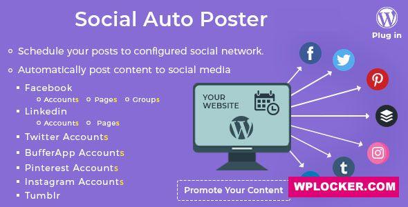 Download free Social Auto Poster v3.8.3 – WordPress Plugin