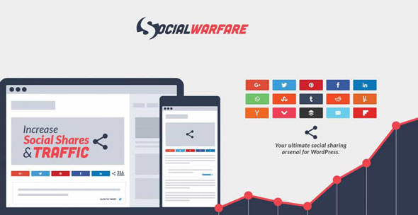 Download free Social Warfare Pro v4.0.2 – Best Social Sharing for WordPress