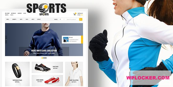 Download free Sport Shop v2.7 – Sporting Club RTL WooCommerce Theme
