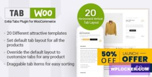 Download free TabWoo v1.0.2 – Custom Product Tabs for WooCommerce
