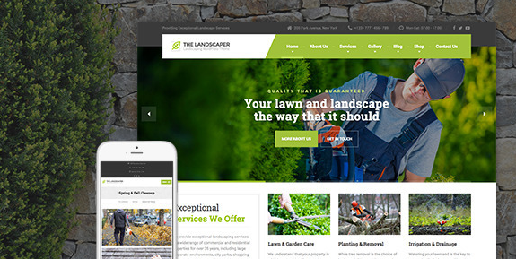 Download free The Landscaper v2.0 – Lawn & Landscaping WP Theme