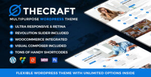 Download free TheCraft v1.8 – Responsive Multipurpose WordPress Theme
