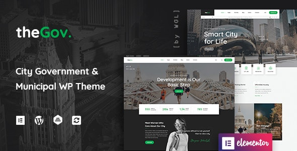 Download free TheGov v1.1.0 – Municipal and Government WordPress Theme