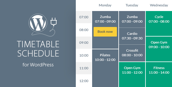 Download free Timetable Responsive Schedule v6.2