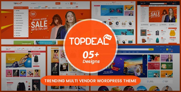 Download free TopDeal v1.7.6 – Multipurpose Marketplace WordPress Theme