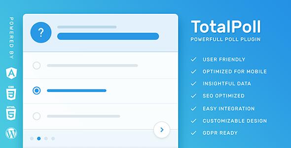 Download free TotalPoll Pro v4.2.0 – WordPress Poll Plugin