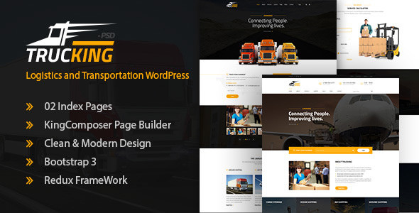Download free Trucking v1.17 – Logistics and Transportation Theme