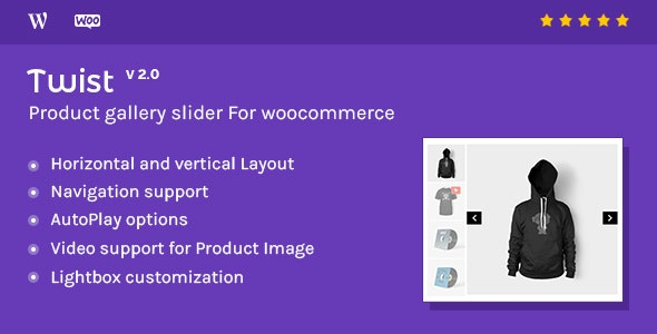 Download free Twist v2.1.0.2 – Product Gallery Slider for Woocommerce