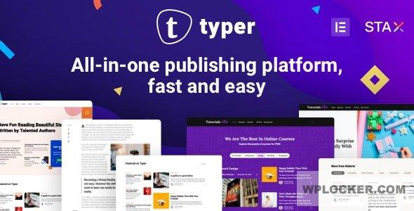 Download free Typer v1.9.1 – Amazing Blog and Multi Author Publishing Theme