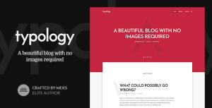 Download free Typology v1.7 – Text Based Minimal WordPress Blog Theme